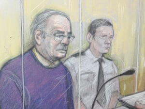 Fred Talbot shown in the dock at Minshull Street crown court.