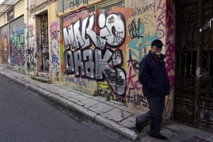 Athens, Greece: graffiti displays a contempt for community.