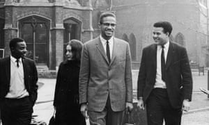 Malcolm X in Oxford, before addressing university students on the subject of extremism and liberty, December 1964.