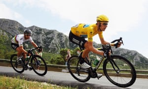 Bradley Wiggins on his way to victory in the 2012 Tour de France.