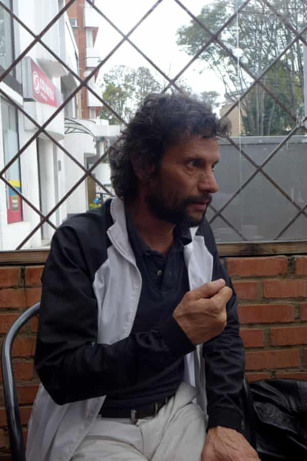 Jorge García, an M-19 guerilla in the 80s, now heading a project called Youth in Peace in Ciudad Bolívar.