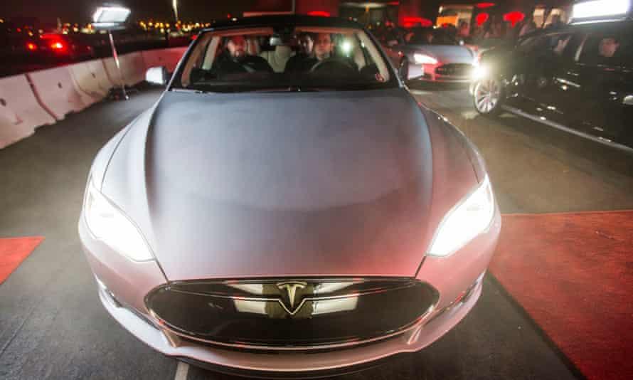A Tesla Motors Model S sedan