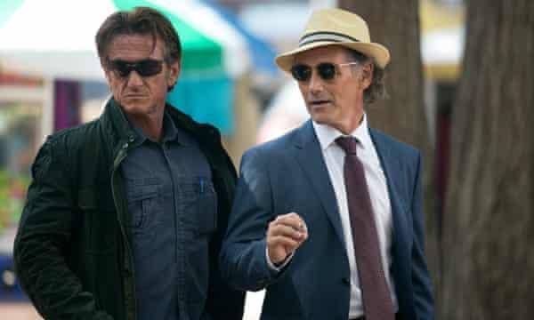 With Sean Penn in The Gunman.