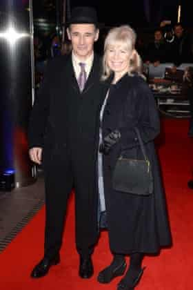 Rylance with his wife, wife Claire van Kampen.
