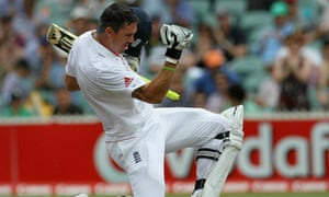 Kevin Pietersen celebrates his double century against Australia in the second Ashes test during the victorious 2010 tour.