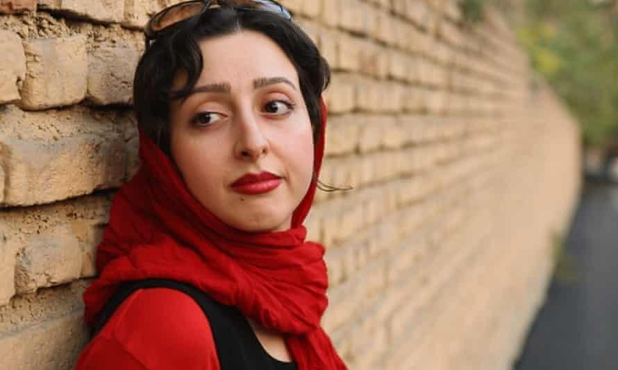 Sara Najafi, in a still from No Land's Song