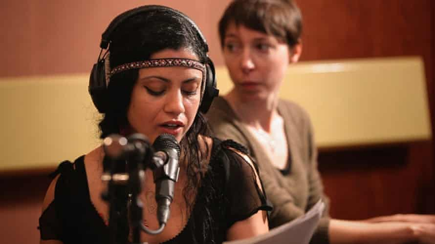 Tunisian singer-songwriter Emel Mathlouthi and French singer-songwriterJeanne Cherhal in No Land's Song