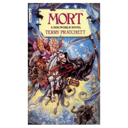 Mort, a Discworld novel by Terry Pratchett, designed by Josh Kirby.