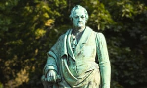 A statue of Goethe.