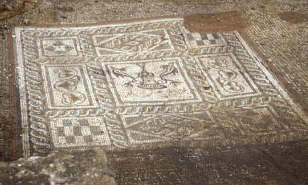 A mosaic at Verulamium uncovered by Sheppard Frere's team in the 1950s.