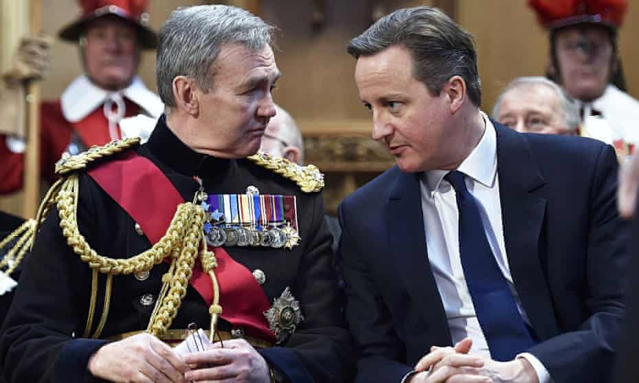 David Cameron and General Nicholas Houghton