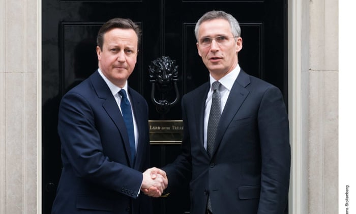 David Cameron and Jens Stoltenberg meet at 10 Downing Street.