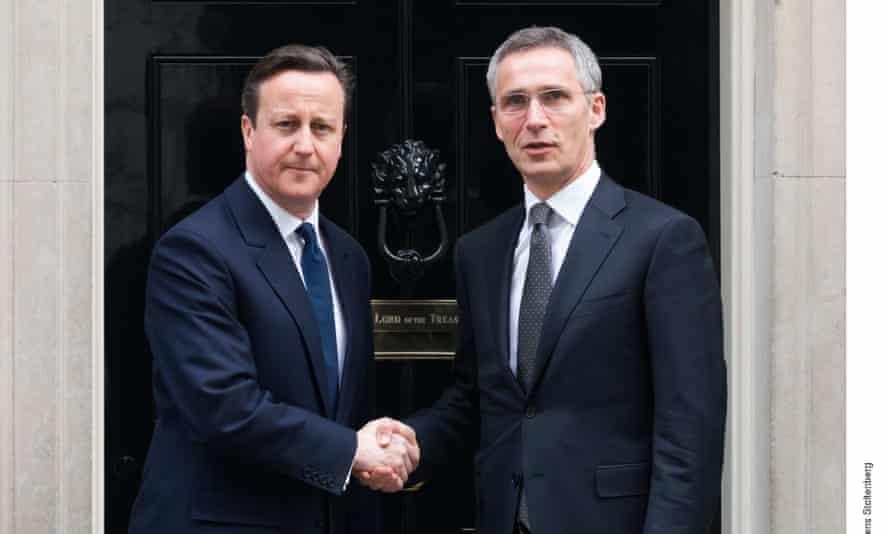 David Cameron and Jens Stoltenberg meet at 10 Downing Street.