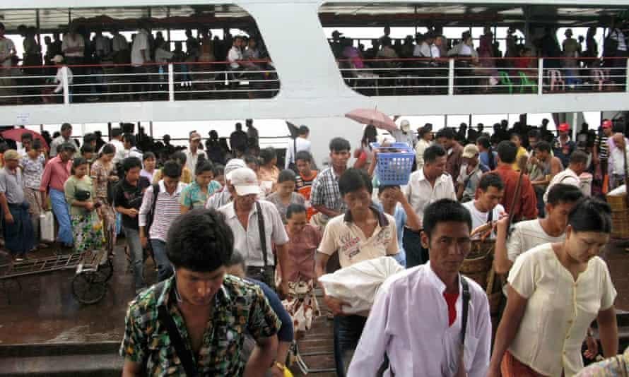 Passenger ferry in Burma