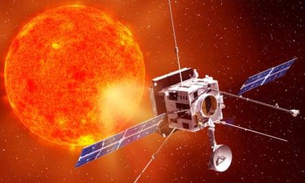 Artist's impression Solar Orbiter mission sun