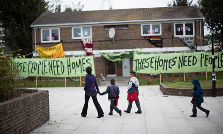 Council homes in Newham occupied by Focus E15 mothers group