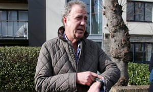 Television presenter Jeremy Clarkson leaves an address in London