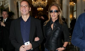 Yanis Varoufakis with his wife Danae Stratou in Italy. The finance minister said he did not agree with the aesthetic of the Paris Match photo shoot at their Athens home.