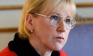 Sweden's foreign minister, Margot Wallström