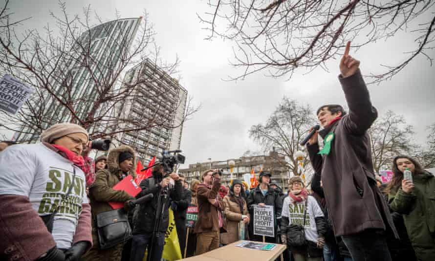 Hundreds gathered to demonstrate in London against the increasing threat of eviction or relocation