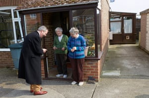 Ukip leader Nigel Farage goes pre-election canvassing on the streets of Sandwich in Kent.