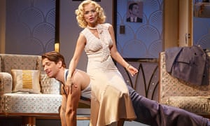 Andy Karl and Kristin Chenoweth in On the Twentieth Century.