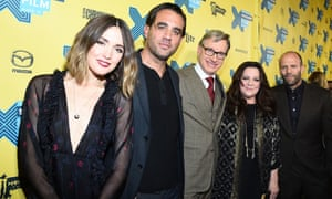 Rose Byrne, Bobby Cannavale, Paul Feig, Melissa McCarthy and Jason Statham at the premiere of Spy.