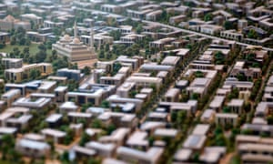 A model of a planned new capital was displayed for investors during the Egypt Economic Development Conference in Sharm el-Sheikh.