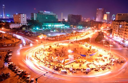 Traffic in Tahrir Square. Cairo's population is forecast to double by 2040.