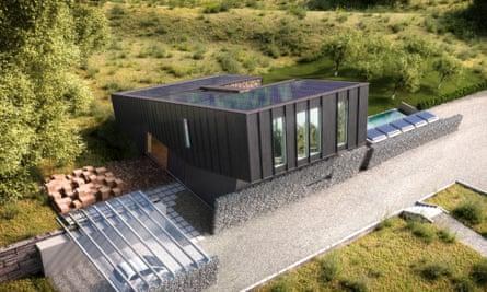 ZEB house overhead