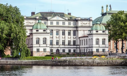 The Bonde Palace in central Stockholm which houses Sweden's supreme court