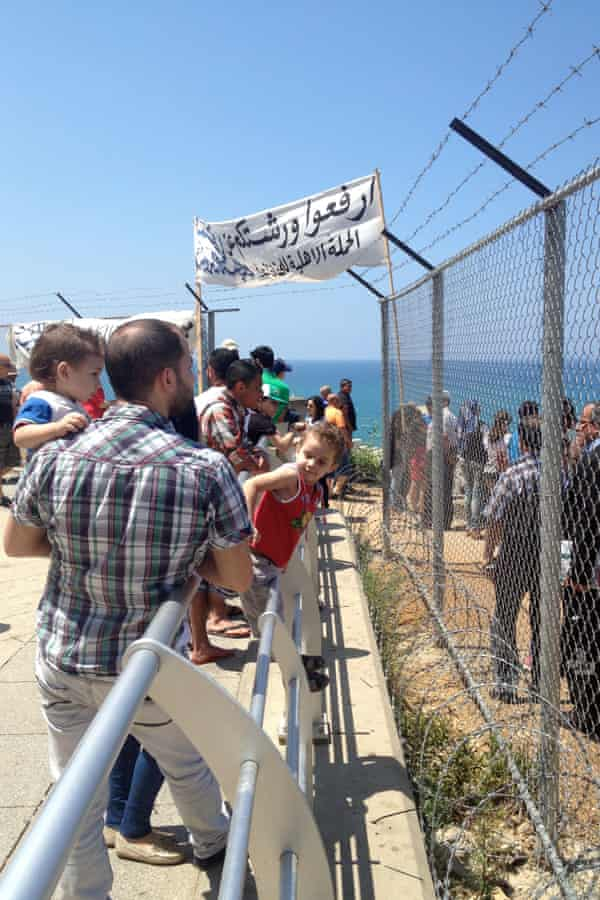 Barbed wire and fences suddenly went up at Dalieh