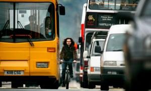 Traffic on Princes Street, Edinburgh.