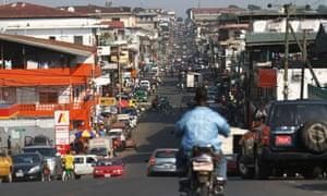 Monrovia, the capital of Liberia, where the DEA's drug sting was set up.