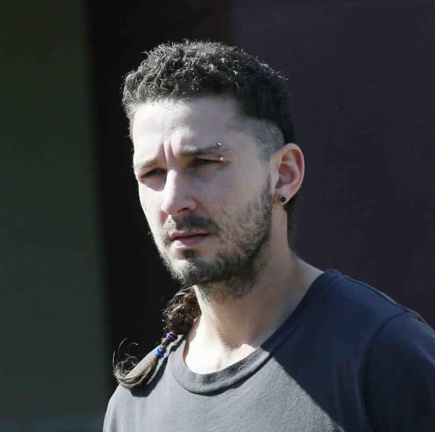 Shia LaBeouf complete with rat-tail