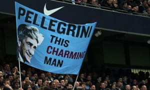 Manchester City fans celebrate Manuel Pellegrini with a Smiths reference