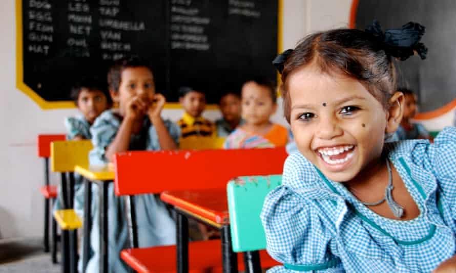 a low-cost fee paying school in Vijayawada, India