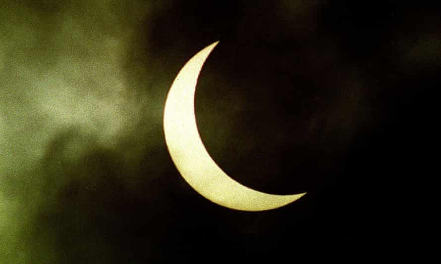 An image from the last solar eclipse in the UK –sun appears as crescent