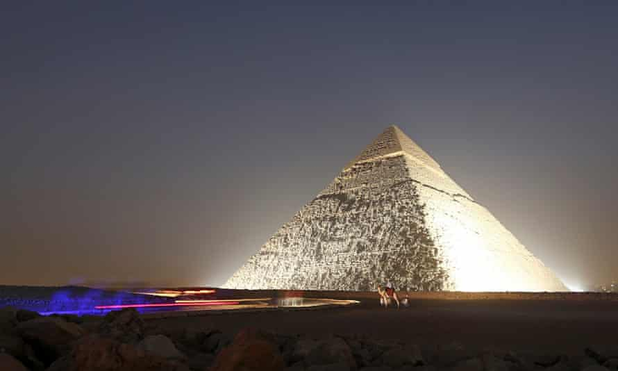 A pyramid in Egypt