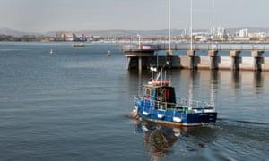 Cardiff Bay fishing boat