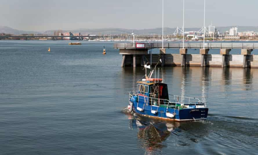A fishing boat in Cardiff Bay.