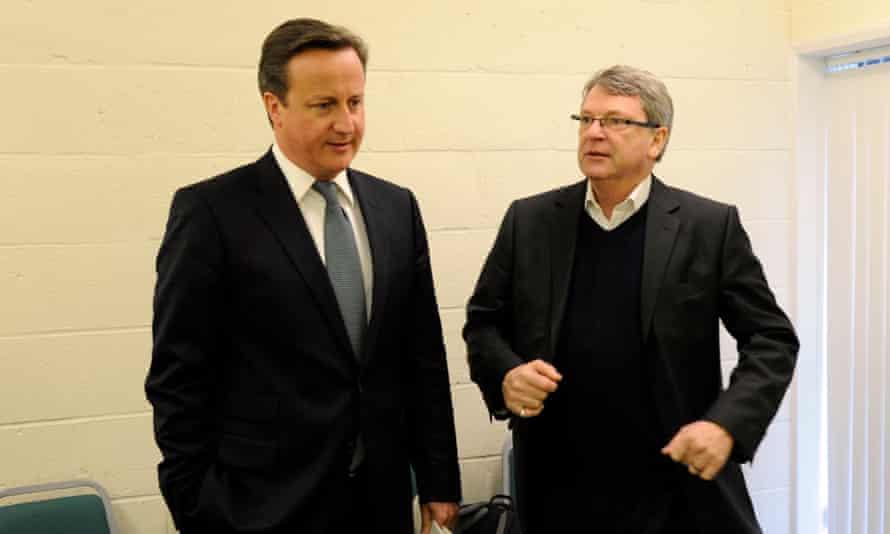 David Cameron with Lynton Crosby in 2012