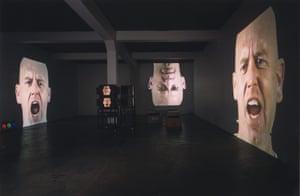 Bruce Nauman: Anthro/Socio (Rinde Facing Camera), 1991