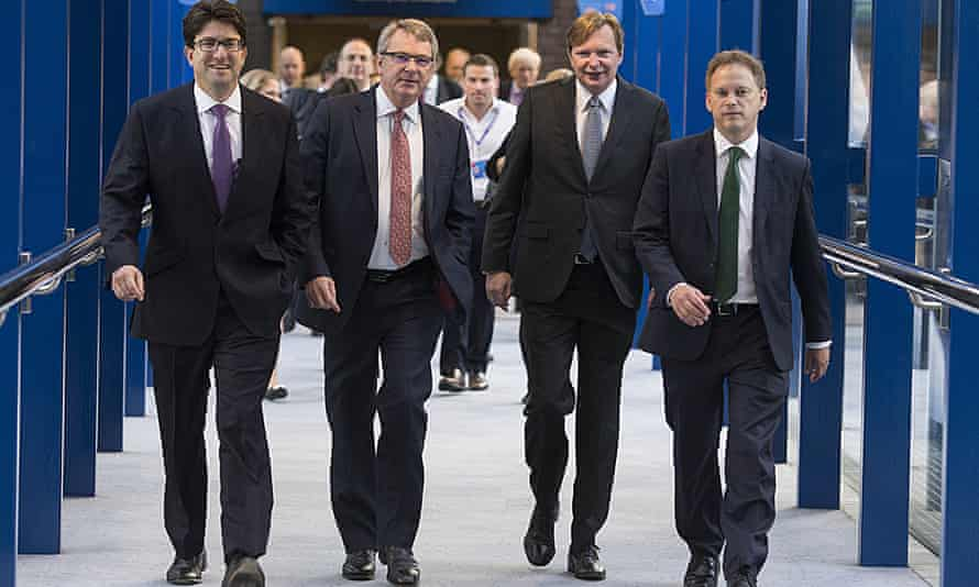 From left: Lord Feldman, Lynton Crosby, Jim Messina and Grant Shapps at last year'sTory conference.