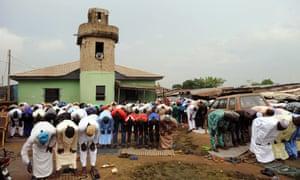 Muslim men in Ogun State of Nigeria.