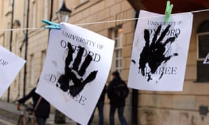 Divest Our Dirty Degrees! at Oxford University in January 2015
