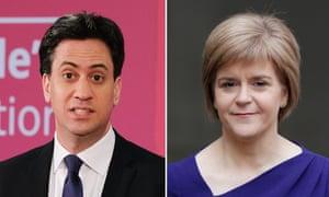 Ed Miliband and Nicola Sturgeon