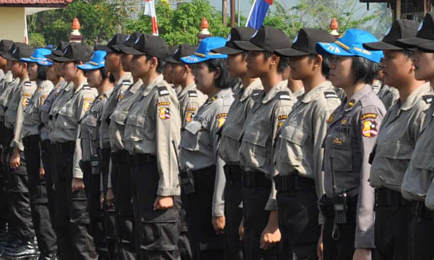 Indonesian policewomen have to undergo a virginity test before being employed. Photograph: Freddy Um