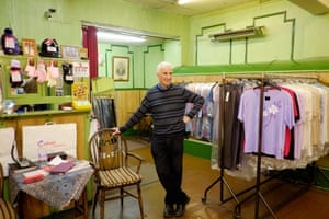 Michael Albert stands in Blustons clothes shop, which is closing after 80 years of trading.