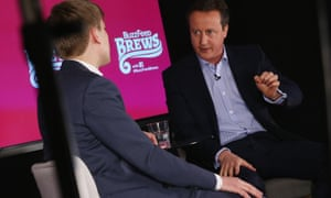 David Cameron is interviewed by Jim Waterson, the deputy editor of Buzzfeed UK.